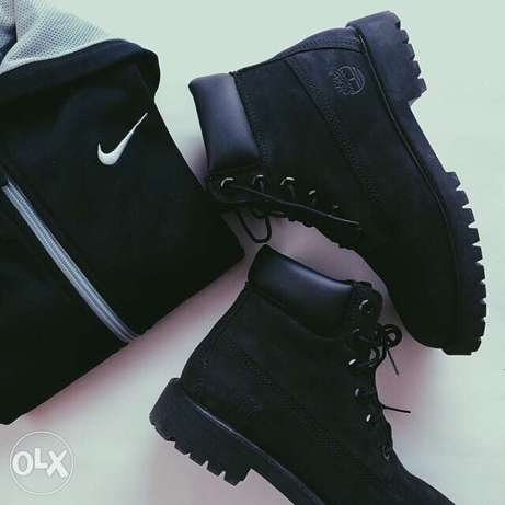All black timberland boots City Centre - image 1