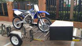 2014 Yamaha YZF 250 /2014 3 bike trailer