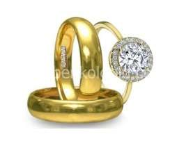 New year sale is hear now on your wedding gowns and gold rings