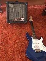 Yamaha Pacifica and 30w Roland Cube COSM amp