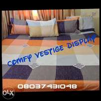 7x7 bedsheet with 4 pillowcases