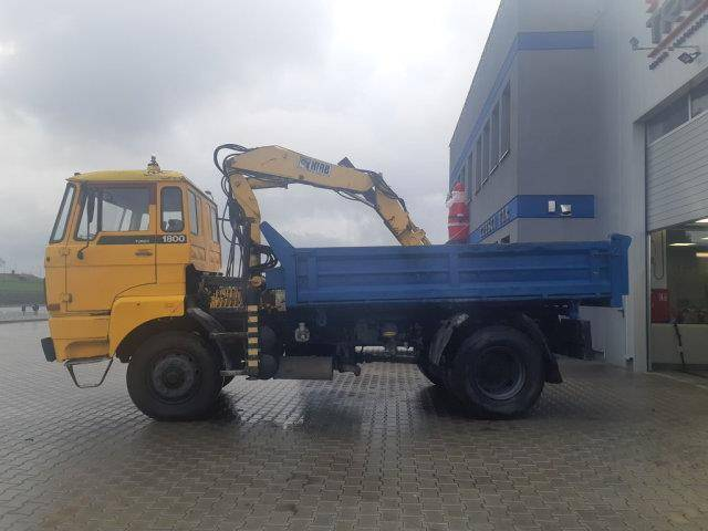 DAF 1800 1800 tipper with crane 4x4