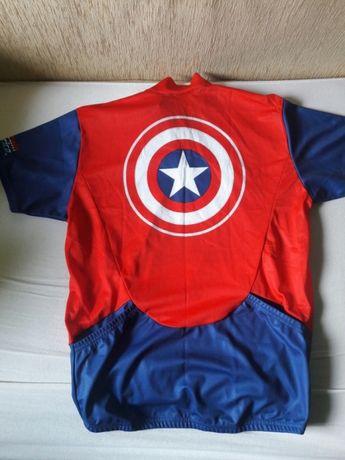 04d05469b Koszulka MARVEL Kapitan Ameryka r.M 12szt T-shirt sportowa oddychajaca  Józefów - image 2