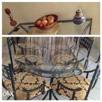 Timeless wrought iron dining room set