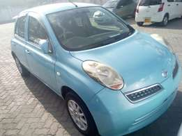 Nissan March blue 2010