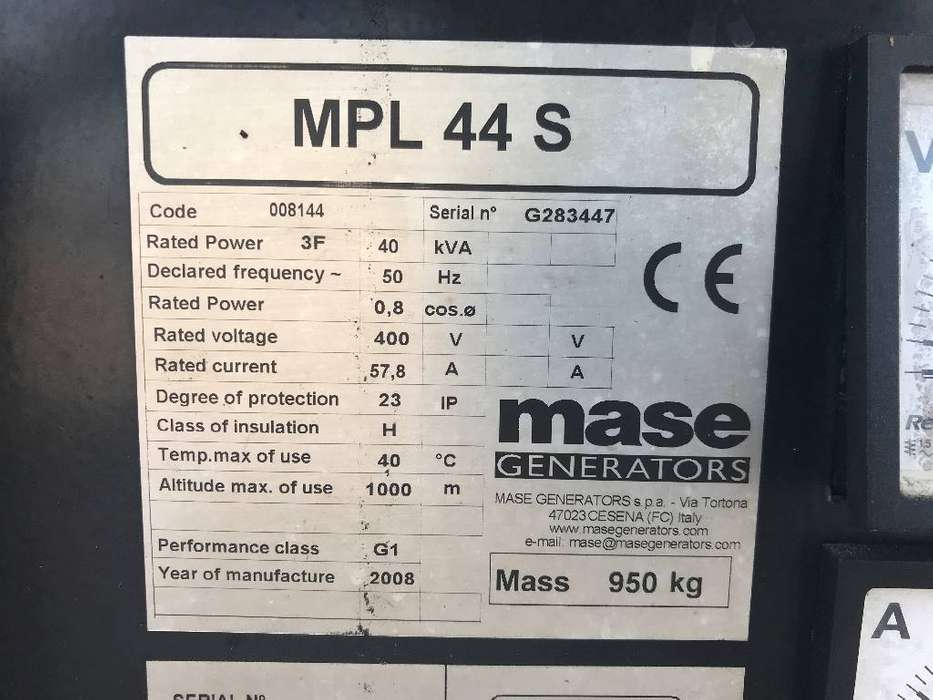 Mase MPL 44 S - Deutz - No Alternator - DPX-11927 - 2008 - image 4