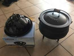 Falkirk pot Nr3 and Cadac potjie cooker