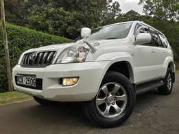 Toyota Prado Just arrived pearl white 4000cc fully loaded