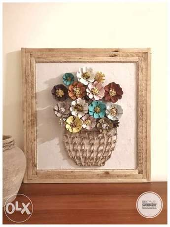 wall art flowers vase