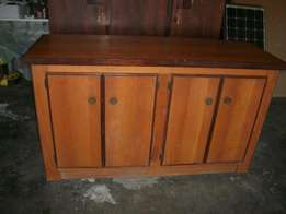 Long wooden cabinet
