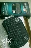 Handheld Wireless keyboard and remote controller.