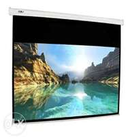 200 x 200 electric projector screen