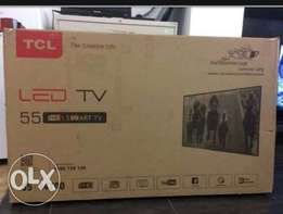"New TCL 32"" smart brown box"