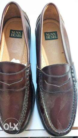 Brown Oxford Genuine Leather Shoes size 43 حذاء جلد اوكسفرد بنى مقاس