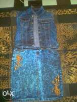 Jeans suit and jeans trousers available