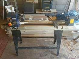 Wood work lathe and band saw