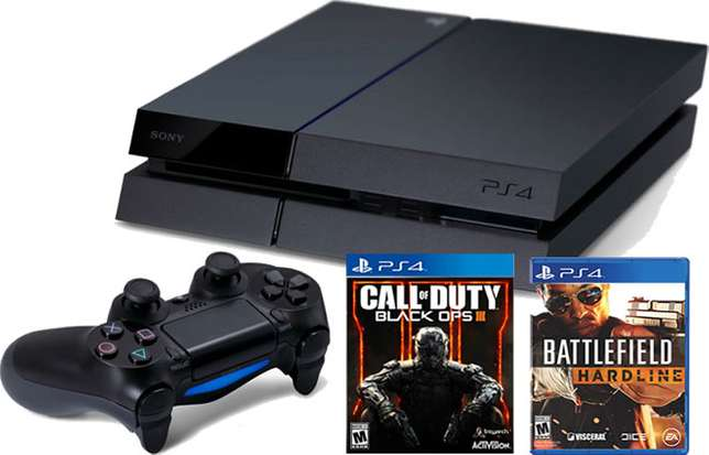 Playstation 4 console with Free Games and accessories Kampala - image 1