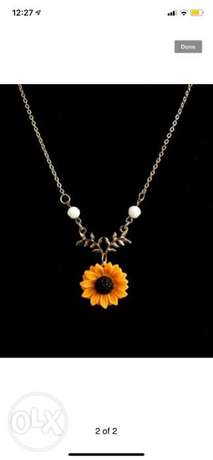 Sunflower necklace for women
