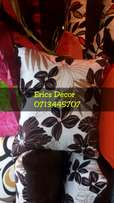 Floral brown throw pillows and small cushions