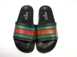 bc5958a34abe8 GUCCI Fantastyczne klapki czarne zielone czerwone 39 - 42 uniseks