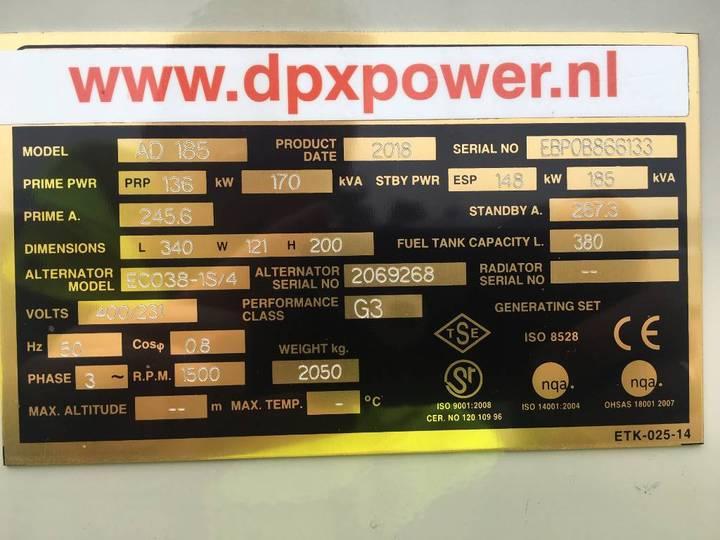 Doosan P086TI-1 - 185 kVA Generator - DPX-15549.1 - 2019 - image 5