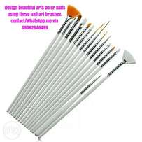 Nail art pigments/brushes 14 pieces