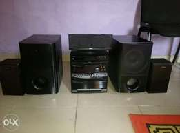 Clean Kenwood player with two powerful sub woofers for grabs.