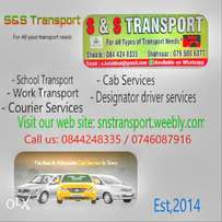 Transport services available in Gauteng