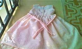 Light Pink Lace Dress For Girls