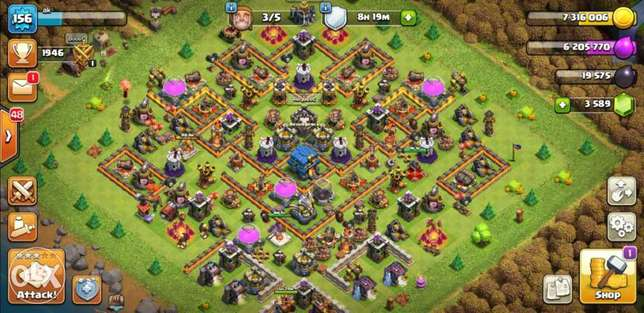 Clash of clans town - Level 156