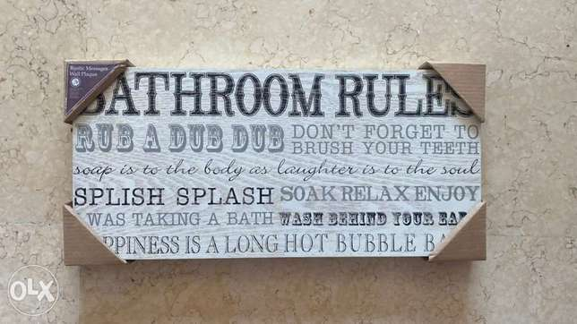 wall message for Bathroom