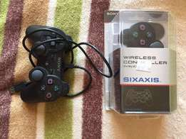 2 Play station wireless controllers