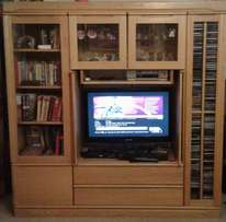 Well-Constructed solid OAK Storage and Display Cupboard
