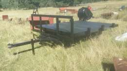 3 ton flat bed Farm trailer with brand new deck
