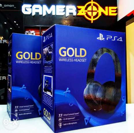 Sony gold headset 7.1 now Available at gamerzone