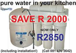 Reverse osmosis drinking water filters