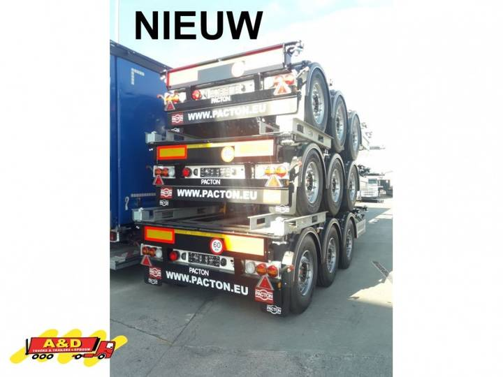 Pacton 3 x nieuw containerchassis