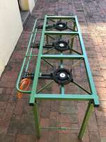 Three plate Gas Burner Tables - VERY LOW price x only 6 units left!!