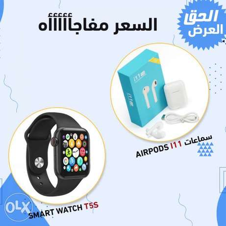 T5S Smart Watch + Airpods i11