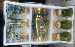 Sets of Gold Glass Cups