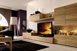 Showcase Tv stand and cabinet set