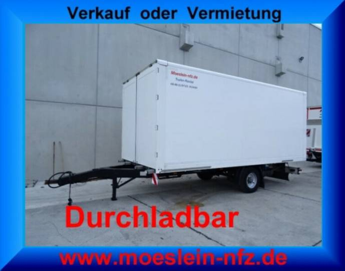 Möslein EK1-D 1 Achs Kofferanhänger, Durchladbar - 2014