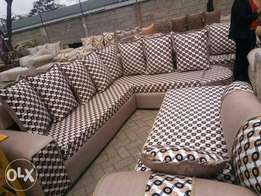 A Brand nine seater corner seat with shining and durable material