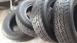 "Toyota hilux Tyres x4 265/65/17 tyres ""R3000"""