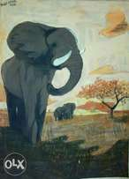 Oil painting suitable for hotels, safari lodges, as well as your home