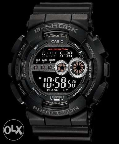 G Shock GD-100-1B Mint Condition