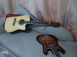 Acoustic guitar powered