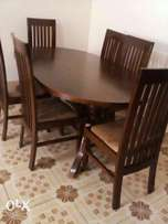 Hardwood well made dining set table