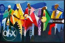 African music crew painting