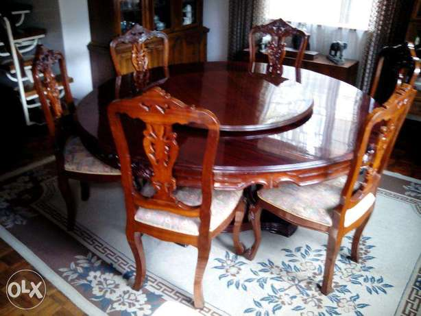8 chair dining table with lazy suzy Nairobi West - image 5
